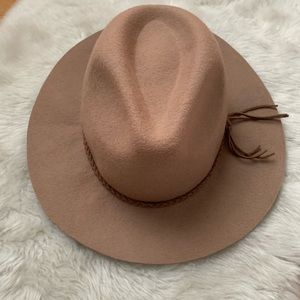 D&Y from Nordstrom Tan Wool Fedora Hat